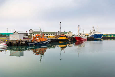 Fishing boats in Hofn harbour, Iceland