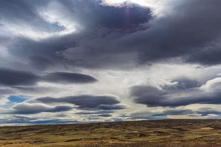 Dramatic cloudscape near Laugarvatn village, Iceland