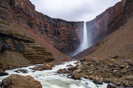 Hengifoss Waterfall in Eastern Iceland