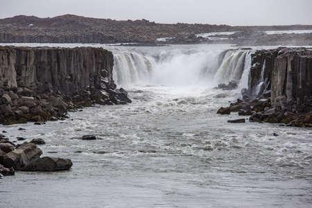 Sellfoss waterfall in Northern Iceland Stok Fotoğraf
