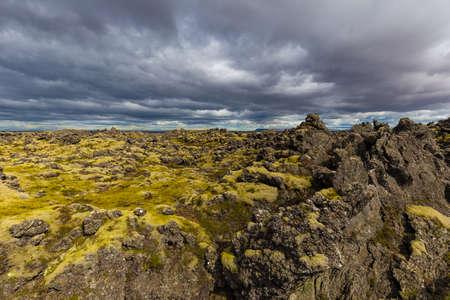 Berserkjahraun lava field in Snaefellsnes peninsula, Iceland