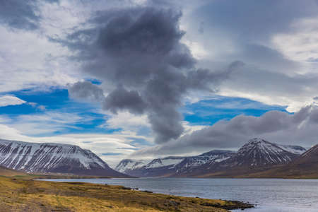 lenticular: Scenic view of Westfjords, close to Sudavik village, Iceland