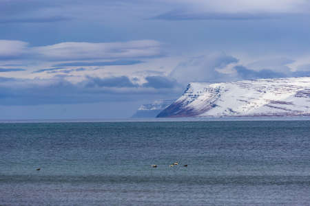View of Drangajokull, the northern most glacier in Iceland, Westfjords