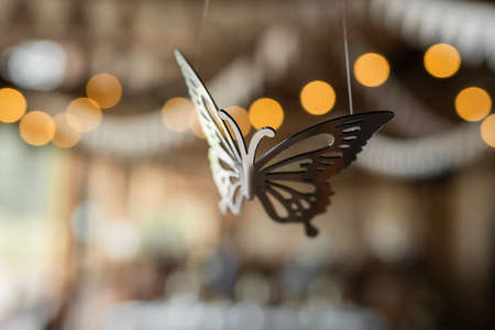 accessory butterfly for room decor suspended from the ceiling
