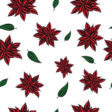 vector floral banner backgrounds and seamless pattern. Linear illustration of lily flowers and leaves. Concept for boutique, jewelry, beauty salon, spa, fashion, flyer, invitation, banner design. hand drawn Zdjęcie Seryjne