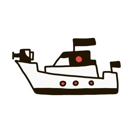 Warship outline vector icon. Thin line black warship icon, flat vector simple element illustration from editable army concept isolated on white background