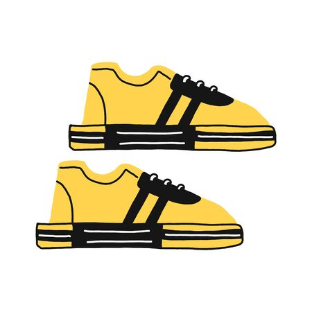 Sneakers flat icon. You can be used sneakers icon for several purposes like websites, UI, UX, print templates, promotional materials, info-graphics, web and mobile phone apps