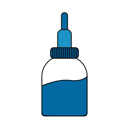 spray for the nose and throat in a jar with a special nozzle. vector illustration isolated on a white background. for websites, icons, apps, and banners
