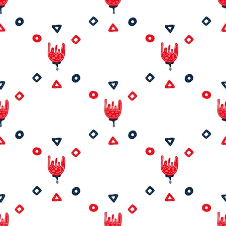Scandinavian folk art.background of flowers.seamless pattern. Norwegian flower ornament in vector. Flat-style illustration on a white background.for wrapping, Wallpaper, fabric, tableware design.
