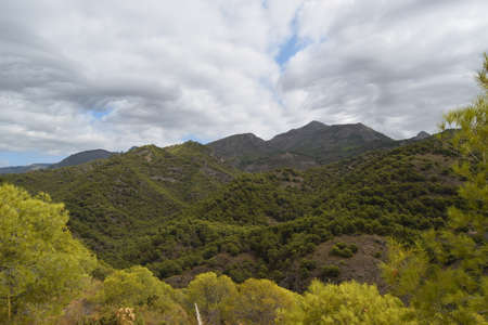 Views of the mountains in the Sierra de Malaga