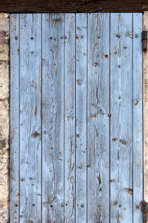 distressed wood: Old window shutters, for ever closed, the house is abandoned  Close-up Stock Photo