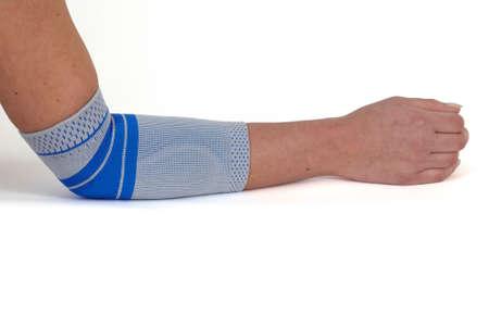 elbow bandage support: Medical bandage around a woman