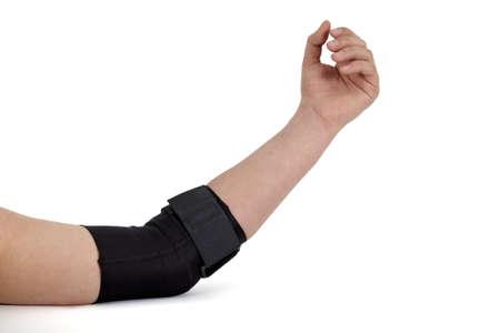 elbow brace: Medical bandage around a woman
