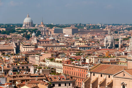catholical: Panorama roofs of Rome Stock Photo