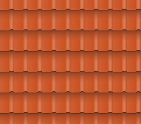 지붕 주택 금속 또는 점토 지붕 타일. 원활한 패턴입니다. 10 EPS.
