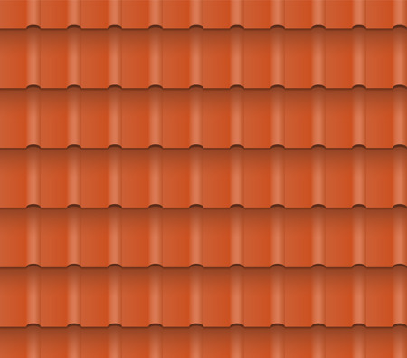 roof shingles: Metal or clay roof tiles for roofing houses. Seamless pattern. EPS 10.