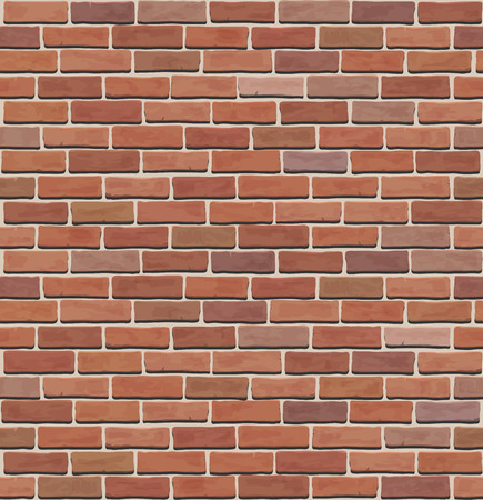 seamless  brick wall texture 矢量图像