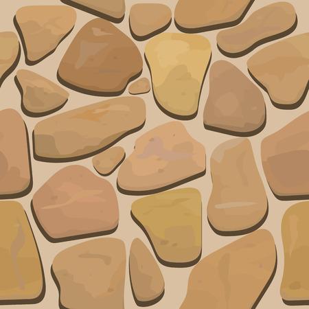 socle: seamless texture of rock stone masonry Illustration