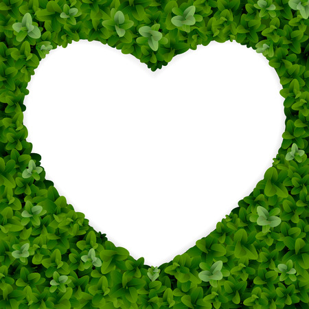 Nature background with heart shape border.