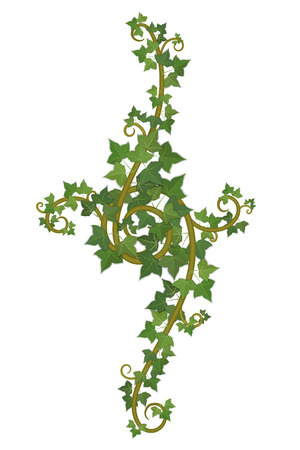decor of interwoven branches of ivy