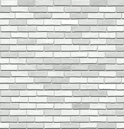 White old brick, vector seamless texture.