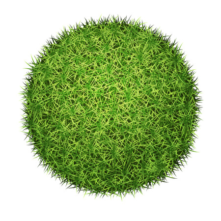 Green grass sphere, vector, isolated