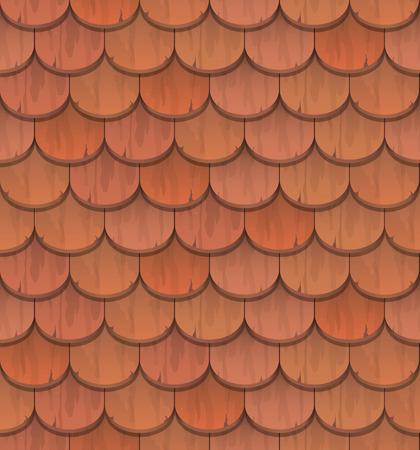 赤粘土瓦 - シームレスなパターン ベクトル  イラスト・ベクター素材