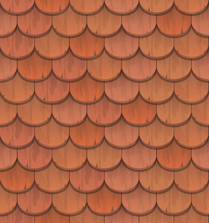 roof shingles: red clay roof tiles  - vector seamless pattern