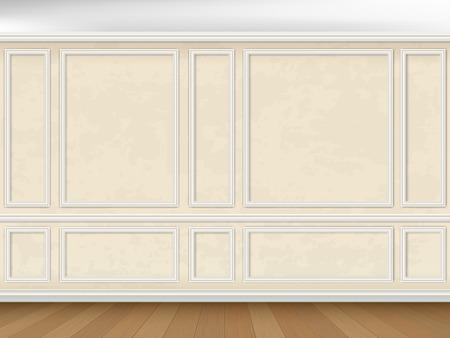 molduras de pared decorado con paneles de la vendimia en estilo clásico Ilustración de vector