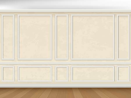 moulding: Vintage wall decorated panel mouldings in classic style