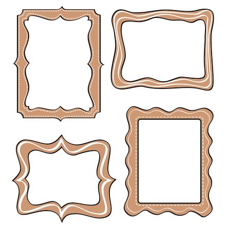 decorative frames: Set of funny picture frame.