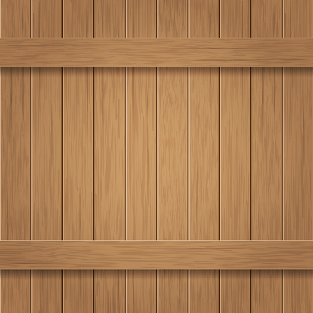 panelling: Wooden billboard of vertical and horizontal planks. Vector background.