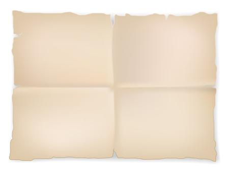 wrinkled scrap old paper sheet on white background. Vector 向量圖像