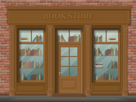 Facade of bookstore Çizim