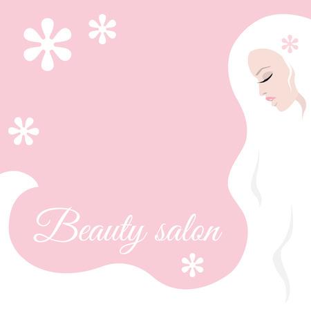 Stylish design for beauty salon flyer or banner Illustration