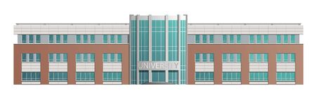 The building of the University, school. Isolated on white background. Vector image.  イラスト・ベクター素材
