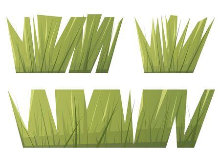 Green grass in flat cartoon style.