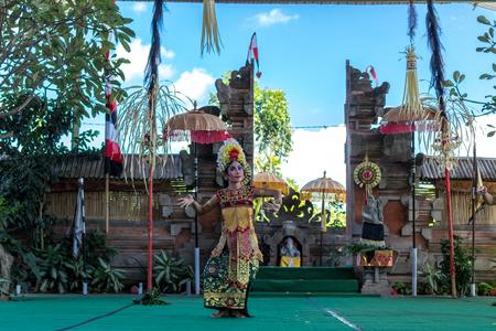 religion ritual: BALI, INDONESIA - MAY 5, 2017: Barong dance on Bali, Indonesia. Barong is a religious dance in Bali based on the great Hindi epics of Ramayana.