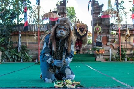 BALI, INDONESIA - MAY 5, 2017: Barong dance on Bali, Indonesia. Barong is a religious dance in Bali based on the great Hindi epics of Ramayana.