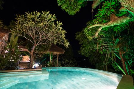 Tropical swimming poll in nature. Island of Nusa Lembongan, Bali. Stock Photo