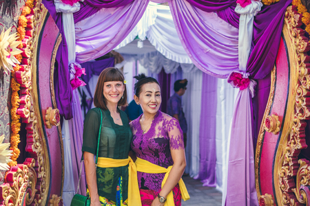 BALI, INDONESIA - OCTOBER 23, 2017: Wedding ceremony, balinese wedding. Editorial