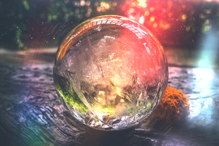 Beautiful crystal ball or an abstract circle. Magic ball. Reklamní fotografie