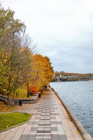 Wonderful autumn landscape in Moscow, Russia. Foto de archivo