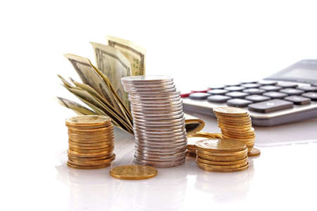 Calculation of financial growth and investment photo