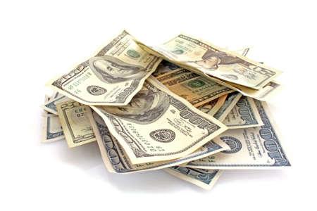 copula: dollars on white background Stock Photo