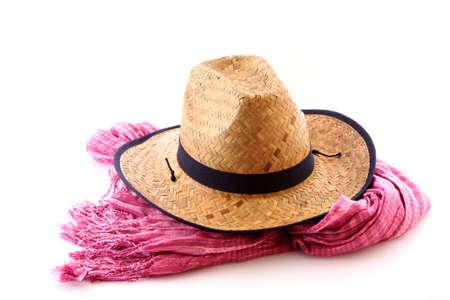 resistol: Bufanda y el sombrero de vaquero en blanco