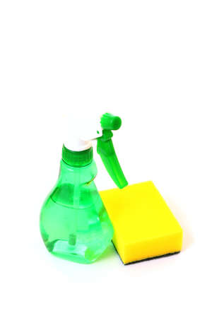 Cleaning supplies isolated photo