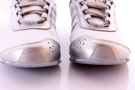 athletic wear: jogging shoes on white background