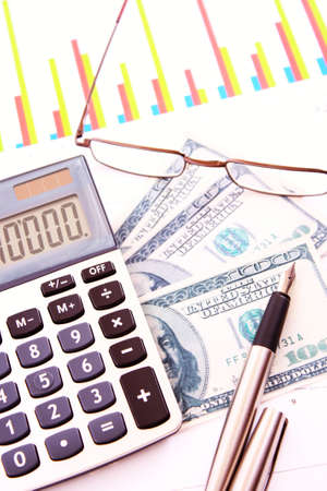 Calculate money  with the calculator photo