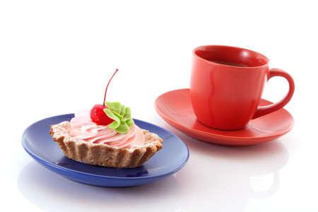 cake and coffee photo